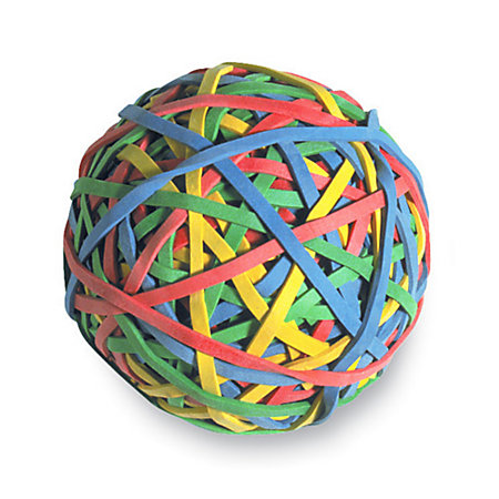 ACCO 275 Rubber Band Ball Assorted Colors by Office Depot ...