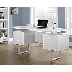 Monarch Retro Style Computer Desk White