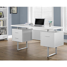 Monarch Retro Style Computer Desk White