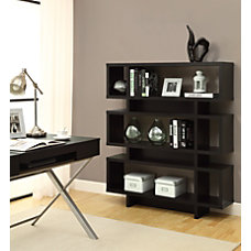 Monarch Specialties 3 Shelf Modern Bookcase