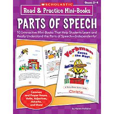 Scholastic Read Practice Mini Books Parts