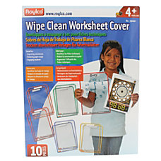 Roylco Wipe Clean Dry Erase Worksheet