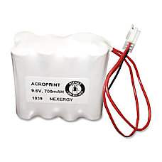 Acroprint Time Recorder Device Battery Nickel
