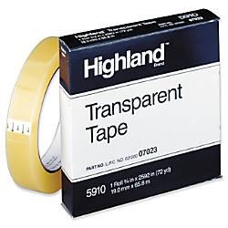 Highland Transparent Light duty Tape 075