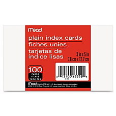 Mead Plain Index Card 5 Width