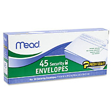Mead Security Envelopes Security 10 413