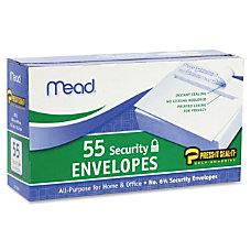 Mead Security Envelopes Security 6 34