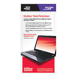 Mcafee total protection by office depot amp officemax