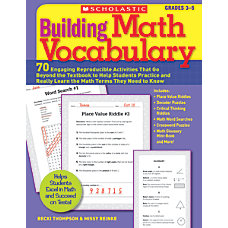 Scholastic Building Math Vocabulary
