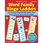 Scholastic Word Family Bingo Ladders