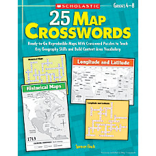 Scholastic 25 Map Crosswords