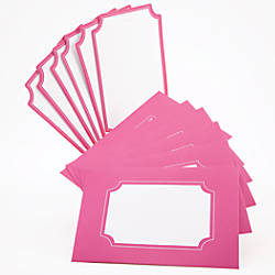 "See Jane Work Note Cards With Envelopes, 4""x 6"", Pink, Pack Of 6"