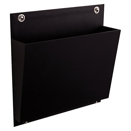 See Jane Work Connecting Wall File Letter Size Black By
