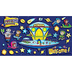 Scholastic Space School Welcome Bulletin Board