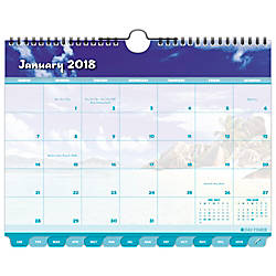 Day Timer Coastlines Tabbed Monthly Wall