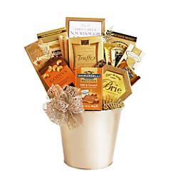 Givens Gifting Gold Holiday Ornament Tin