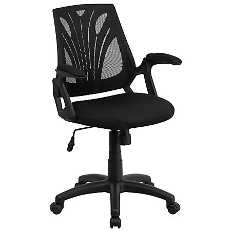Flash Furniture Mesh Swivel Task Chair With Padded Seat Black By Office Depot