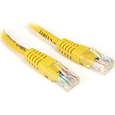 StarTechcom 1 ft Cat5e Yellow Molded