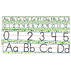 Scholastic Standard Manuscript Alphabet And Numbers