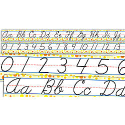 Scholastic Standard Cursive Alphabet And Numbers
