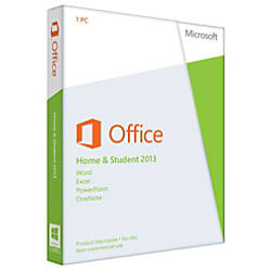 Microsoft® Office Home And Student 2013, English Version, Product Key
