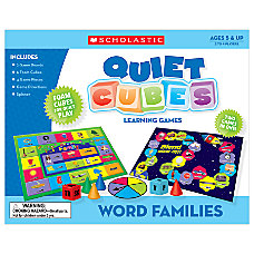 Scholastic Quiet Cubes Learning Games Word