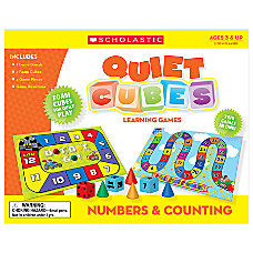 Scholastic Quiet Cubes Learning Games Numbers