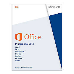 Microsoft® Office Professional 2013, English Version, Product Key