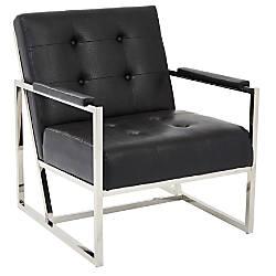 Ave Six Nathan Arm Chair Black