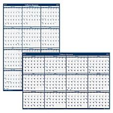 Erasable Yearly Wall Calendar 24 x
