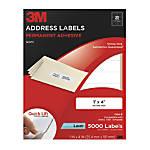 3M White Laser Address Labels 1