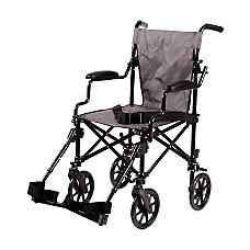 DMI Lightweight Folding Transport Chair 39