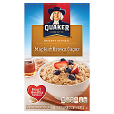 Quaker Instant Oatmeal Maple Brown Sugar