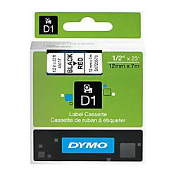 DYMO D1 45017 Black On Red