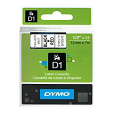 DYMO D1 45017 Black On Red