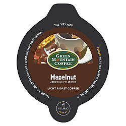 Green Mountain Coffee Hazelnut Bolt Packs
