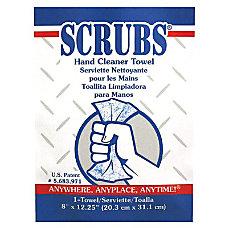SCRUBS Hand Cleaner Towels 8 x