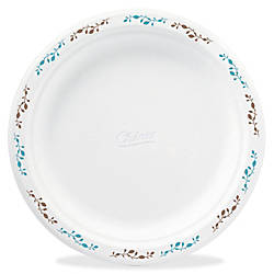 Chinet Compostable Round Vines Plates 875