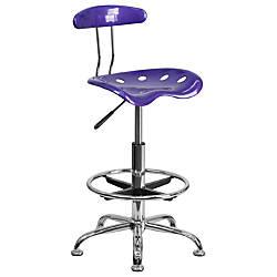Flash Furniture Vibrant Drafting Stool VioletChrome