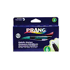 Prang Metallic Markers Bullet Point Assorted