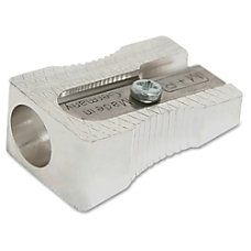 Baumgartens Compact Pencil Sharpener Silver