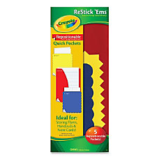Crayola RestickEms Repositionable Quick Pockets Assorted
