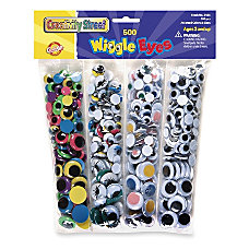 ChenilleKraft Wiggle Eyes 500 Pieces 500