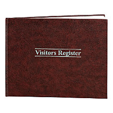 Wilson Jones Visitor Register 11 12