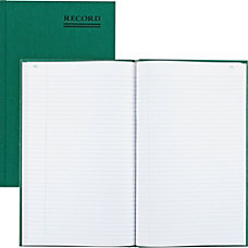 Rediform Green Bookcloth Margin Record Book