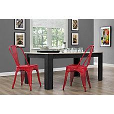 DHP Nova Mesh Dining Chairs RedSilver