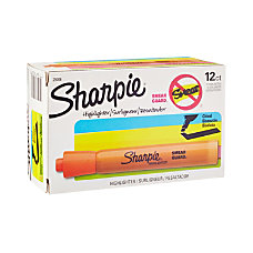 Sharpie Accent Highlighters Fluorescent Orange Pack
