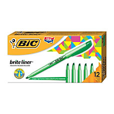 BIC Brite Liner Highlighters Green Box