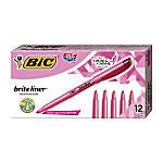 BIC Brite Liner Highlighters Pink Box