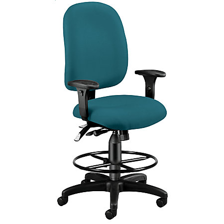 OFM Ergonomic Task Chair With Drafting Kit Teal By Office Depot OfficeMax